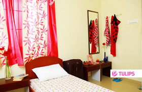 Well-Furnished Girls Hostel Rooms